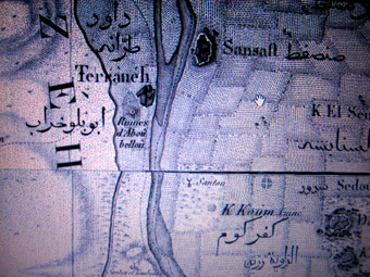 Map from Napoleon team indicating Abu Bello (Abou Bellou)