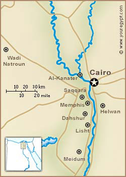 The West branch of the Nile up Al Kanter going to Rosetta.