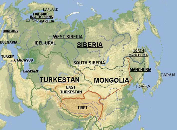 map turkestan gonur