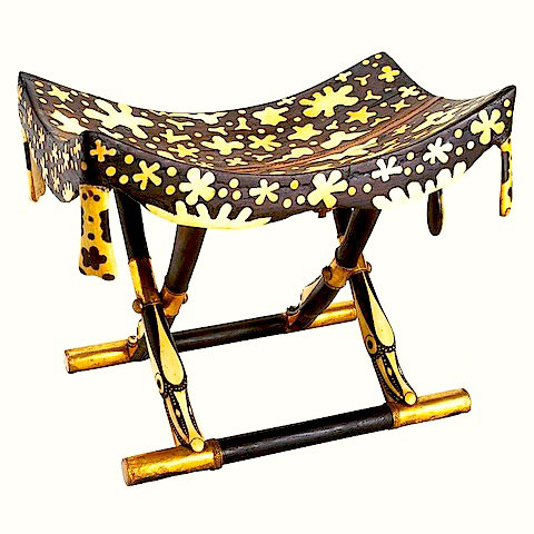 The Star S Path For Tutankhamun In A Folding Chair By
